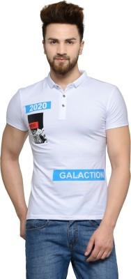camey Graphic Print Men Polo Neck Multicolor T-Shirt