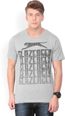 Slazenger Printed Men's Round Neck Grey T-Shirt