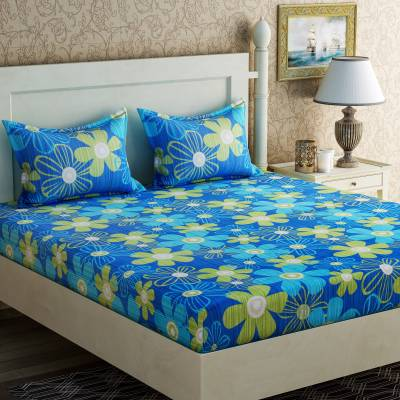 Zesture Cotton Floral Double Bedsheet