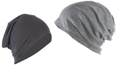Saifpro Solid Beanie Combo Cap(Pack of 2)