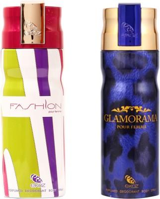Ekoz Fashion, Glam Blue Body Spray - For Men(200 ml, Pack of 2)