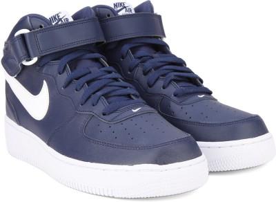 Nike AIR FORCE 1 MID '07 Sneakers(Blue, White) at flipkart