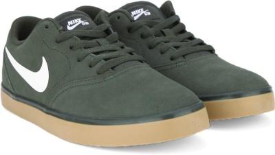 Nike SB CHECK Sneakers(Brown, White) at flipkart