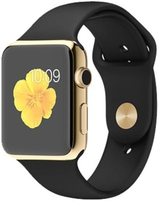Maya EON A1 Gold Smart Watch Smartwatch(Black Strap regular) at flipkart