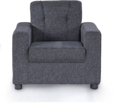 Furnicity Fabric 1 Seater  Sofa(Finish Color - Grey)