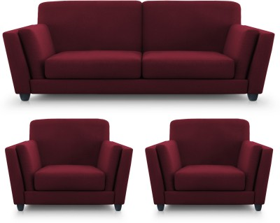 Dolphin Cabana Fabric 2 + 1 + 1 Maroon Sofa Set(Configuration - Straight)