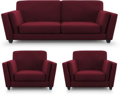 Dolphin Cabana Fabric 2 + 1 + 1 Maroon Sofa Set(Configuration - Straight)
