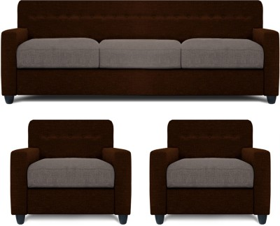 Dolphin Solitaire Fabric 3 + 1 + 1 Multi-colour Sofa Set(Configuration - Straight)