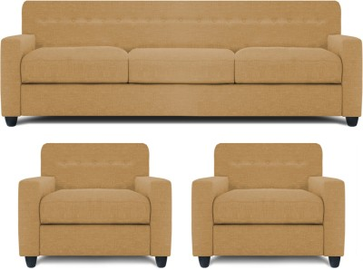 Dolphin Solitaire Fabric 3 + 1 + 1 Beige Sofa Set(Configuration - Straight)