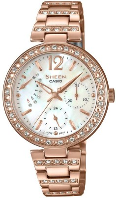 CASIO SH191 Sheen ( SHE-3043PG-7AUDR ) Analog Watch - For Women