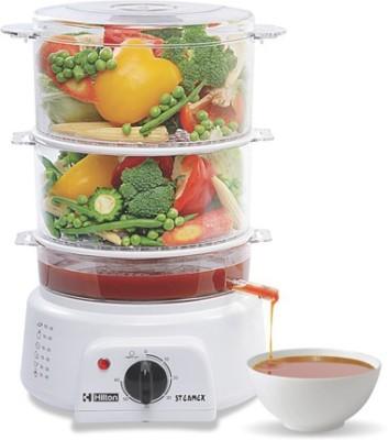 Hilton 3 layer Multi Steam Cooker Food Steamer(White) at flipkart