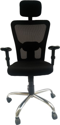 Sogno SOC - 2015 Fabric Office Arm Chair(Black) at flipkart