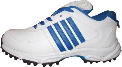 Port Pradator Cricket Shoes For Men(White)