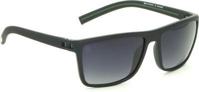 28ed6aca1026 FIZAN FZ-7605O-BO040 Medium 59mm Black Polarized Shaded Rectangular  Sunglasses ( Black )