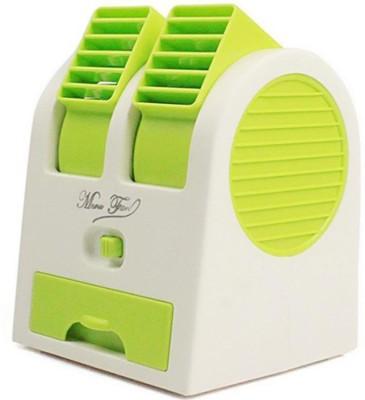 Stargale Portable Mini Air Conditioner Dual Port Bladeless USB Fan Green Stargale Mobile Accessories