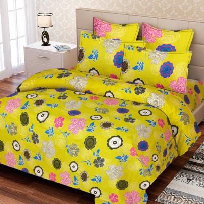 IWS Cotton Printed Double Bedsheet(1 Bedsheet, 2 Pillow Covers, Multicolor) at flipkart