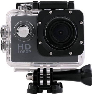 Sunlight Traders Action Shot Sports Action Waterproof Camcorder 1080P mini HD-CM1S Sports and Action Camera(Black 12 MP)