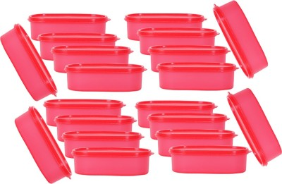 Mahaware Microwaveable Space Saver 20PC    0.6 L Plastic Grocery Container Pack of 20, Red