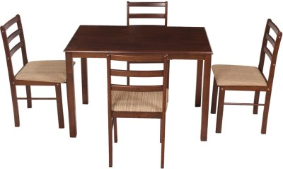619892f484f Woodness Solid Wood 4 Seater Dining Set ( Finish Color - Wenge )