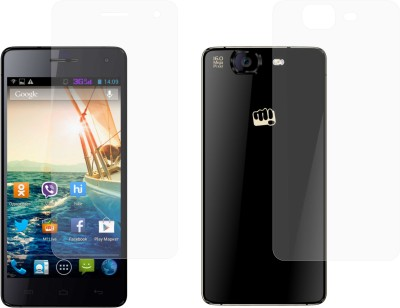 Case Creation Front and Back Screen Guard for Micromax Canvas Knight A350(Pack of 2)