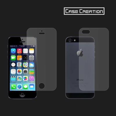 Case Creation Front and Back Screen Guard for 5SE, Apple iPhone 5, 5S(Pack of 2)