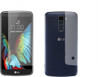 Case Creation Front and Back Screen Guard for LG K10 Dual Sim(Pack of 2)