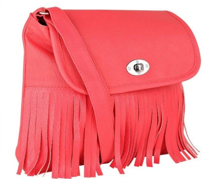 ELLI FASHION Women Red PU Sling Bag  available at flipkart for Rs.299