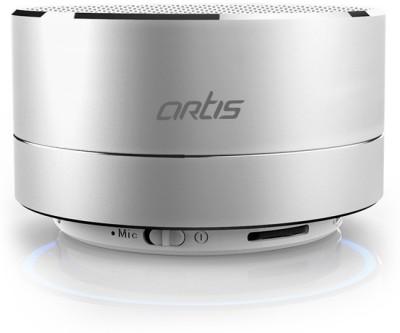 Artis Artis BT14 Wireless Portable Bluetooth Speaker with FM / TF Card Reader / Mic. / Led Light 3 W Portable Bluetooth  Speaker(Silver, Mono Channel)