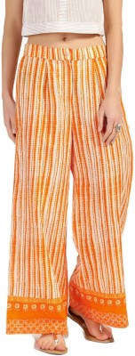 Anouk Regular Fit Women White, Orange Trousers at flipkart