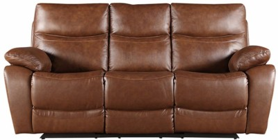 HomeTown Half-leather Manual Recliners(Finish Color - Brown)