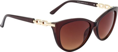Farenheit Cat-eye Sunglasses(Brown) at flipkart