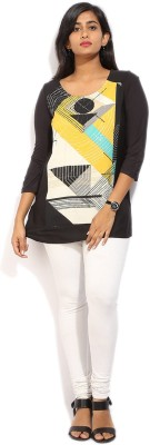W Casual 3/4 Sleeve Printed Women Multicolor Top at flipkart