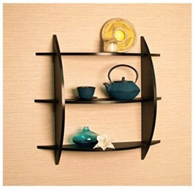 Rajtai Shree MDF Wall Shelf(Number of Shelves - 3, Brown)