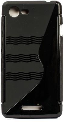 The Little Shop Back Cover for Motorola Moto E (3rd Generation)(Black, Shock Proof, Rubber)