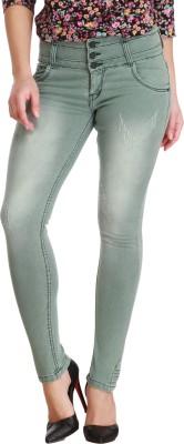 Cali Republic Slim Women Green Jeans