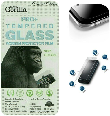 BLACK GORILLA Tempered Glass Guard for MICROMAX A100(Pack of 1)