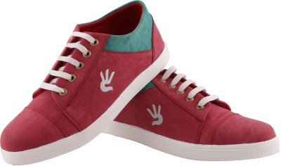 Rock Deal Unique Sneakers For Men(Red, Green)