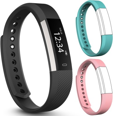 fbandz Altum-2Strap Fitness Smart Band(Teal, Pink Strap, Size : Free Size)