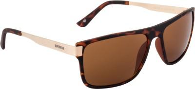 Superman Rectangular Sunglasses(Brown) at flipkart