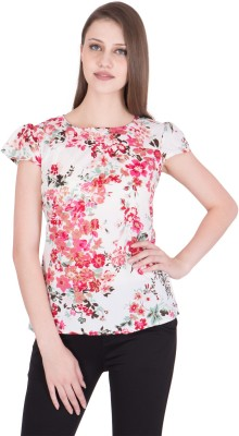G K DESIGN Casual Cap Sleeve Floral Print Women Multicolor Top G K DESIGN Women's Tops