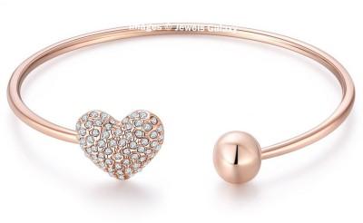 Jewels Galaxy Alloy Cubic Zirconia Rose Gold Charm Bracelet at flipkart