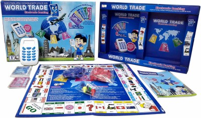 Wishkart World Trade Property Trading Game With Electronic Banking and Swipe Machine Board Game