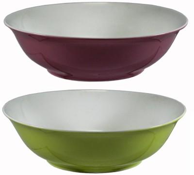 La Platina Color Bowl Set of 2 Porcelain Serving Bowl Green, Pink, Pack of 2 La Platina Bowls