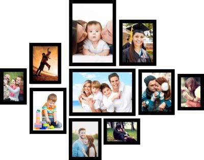 Swadesi Stuff MDF Photo Frame(Black, 10 Photos) at flipkart
