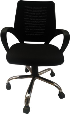 Sogno SOGNO Fabric Office Arm Chair(Black) at flipkart