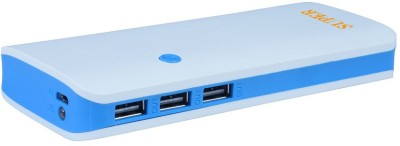 SUPER 10400 mAh Power Bank  P3, PORTABLE BATTERY CHARGER WITH PORT  Light Blue, White, Lithium ion