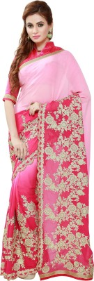 IndianEfashion Self Design, Printed Fashion Georgette Saree(Pink)