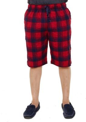 Old Khaki Checkered Men's Multicolor Night Shorts