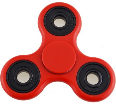 Jango Anti Stress Metal Fidget Spinner With Ceramic Bearings Red