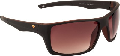 Superman Wrap-around Sunglasses(Brown) at flipkart
